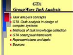GTA GroupWare Task Analysis