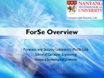 ForSe Overview