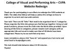 College of Visual and Performing Arts – CVPA Website Redesign