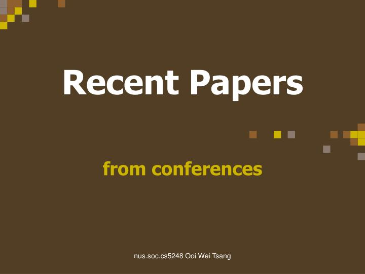 recent papers n.