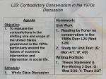 L23: Contradictory Conservatism in the 1970s Discussion