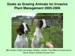 Goats as Grazing Animals for Invasive Plant Management 2005-2006