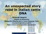 An unexpected story read in Italian cattle DNA