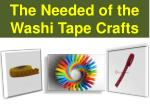 The Needs of the Washi Tape Crafts