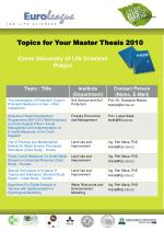 Topics for Your Master Thesis 2010