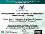 Investigation of the LabPET TM Detector and Electronics for Photon-Counting CT Imaging