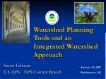 Watershed Planning Tools and an Integrated Watershed Approach