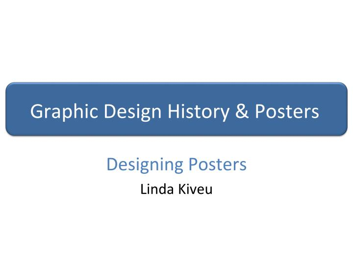 graphic design history posters n.