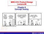 MSE-415: Product Design Lecture #5