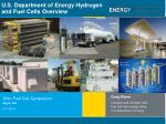 U.S. Department of Energy Hydrogen and Fuel Cells Overview