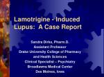 Lamotrigine - Induced Lupus: A Case Report