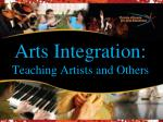 Arts Integration: Teaching Artists and Others
