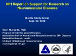 NIH Report on Support for Research on Neuromuscular Diseases
