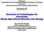 Overview of Technologies for Converting  Waste Agricultural Biomass into Energy