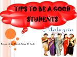 TIPS TO BE A GOOD STUDENTS
