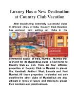 Luxury Has a New Destination at Country Club Vacation