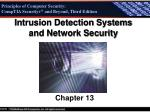 Intrusion Detection Systems and Network Security