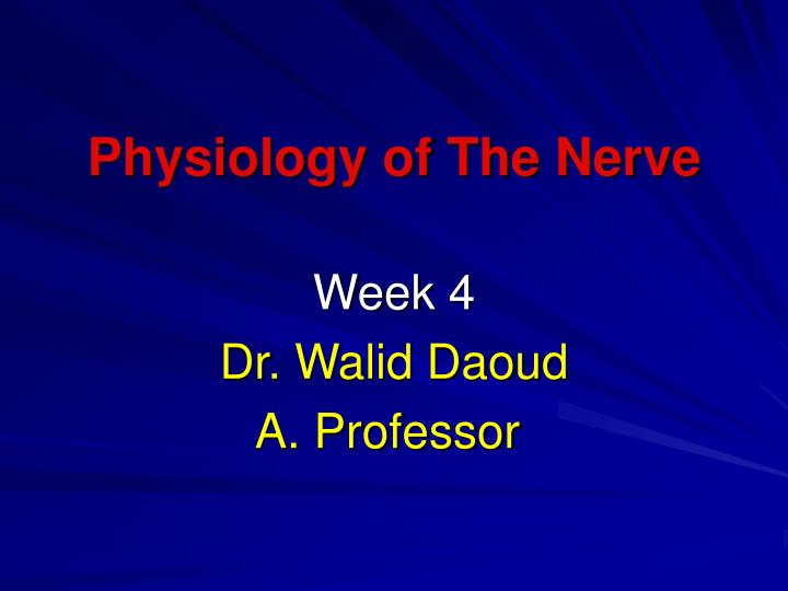 physiology of the nerve n.