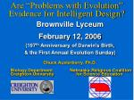 """Are """"Problems with Evolution"""" Evidence for Intelligent Design?"""