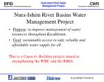 Nura-Ishim River Basins Water Management Project