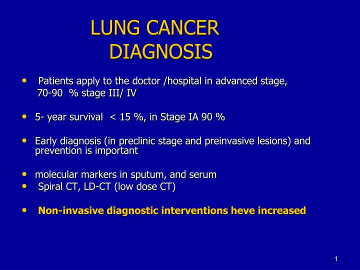 lung cancer diagnosis n.