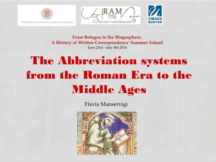 the abbreviation systems from the roman era to the middle ages n.