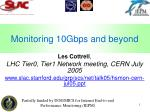 Monitoring 10Gbps and beyond