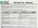 POP Action Plan – Marketing