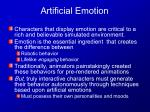 Artificial Emotion