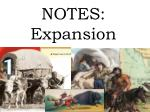 NOTES: Expansion