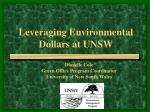 Leveraging Environmental Dollars at UNSW