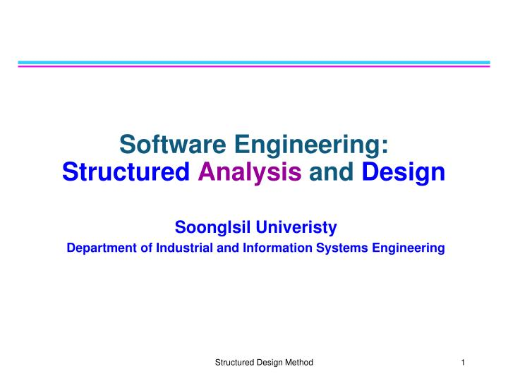 software engineering structured analysis and design n.