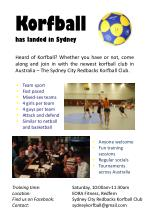 Korfball has landed in Sydney