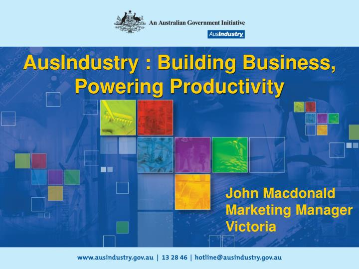 ausindustry building business powering productivity n.