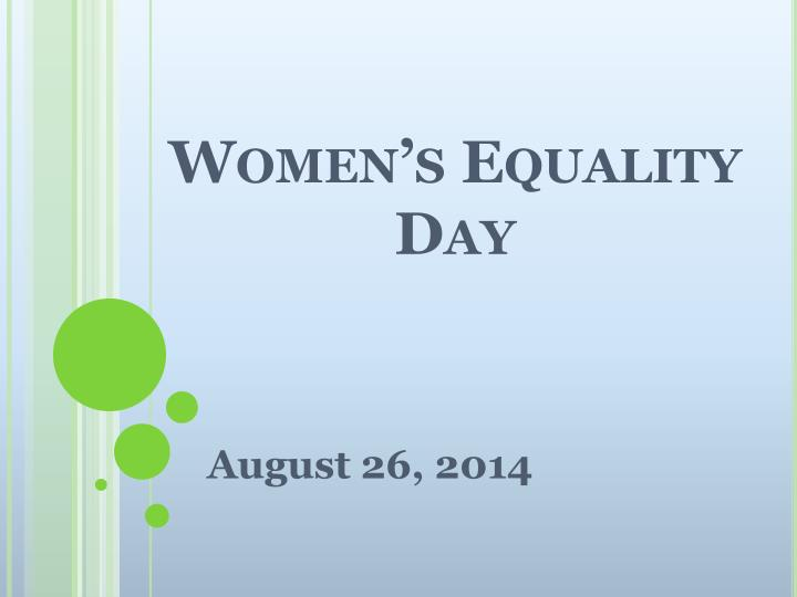 women s equality day n.