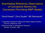 Assimilating Reflectivity Observations of Convective Storms into Convection-Permitting NWP Models