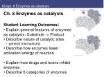 Chapt. 8 Enzymes as catalysts