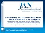Understanding and Accommodating Autism Spectrum Disorders in the Workplace