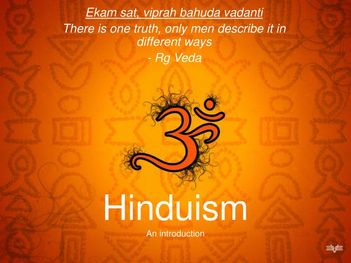 hinduism an introduction n.