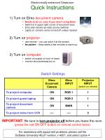 Electronically-enhanced Classroom  Quick Instructions