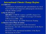 International Climate Change Regime