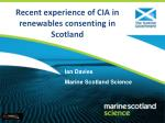 Recent experience of CIA in renewables consenting in Scotland