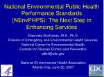 Sharunda Buchanan, M.S., Ph.D. Division of Emergency and Environmental Health Services