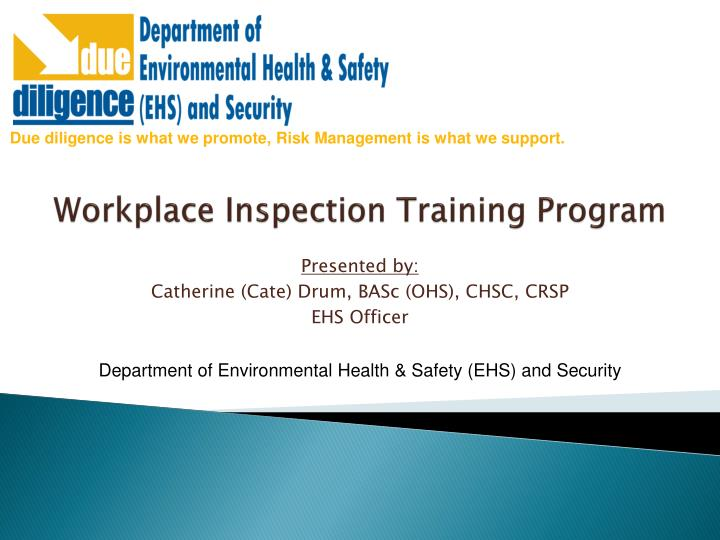 workplace inspection training program n.