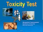 Toxicity Test
