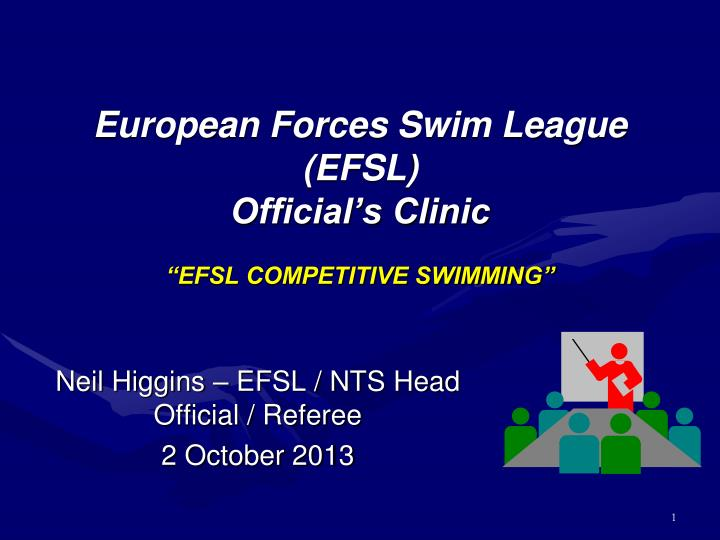 european forces swim league efsl official s clinic efsl competitive swimming n.