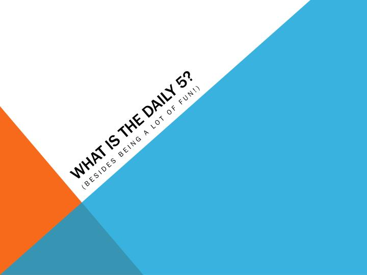 what is the daily 5 n.