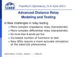 New challenges in relay testing More complex impedance relay characteristic