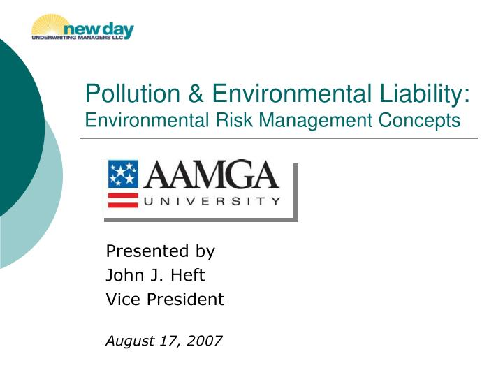 pollution environmental liability environmental risk management concepts n.