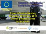 Project Closing Meeting Brussels, 20-21 Dec. 2011 Overall progress since project start